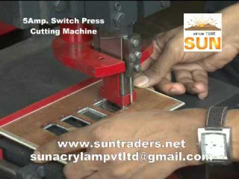 SWITCH PRESS CUTTING VIDEO FOR BAKELITE AND PVC