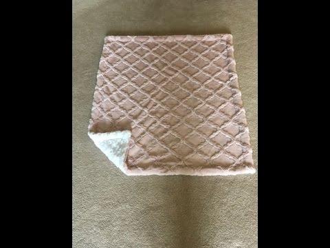 Minky Baby Blanket Tutorial. 8 straight seams.