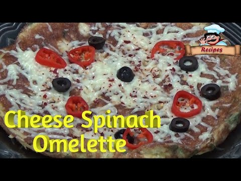 Cheese Spinach Omelette Recipe by Deepa Khurana