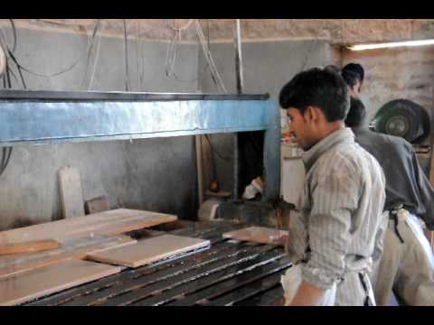 Making of  Sand Stone Tiles with Edge Cutting Machine
