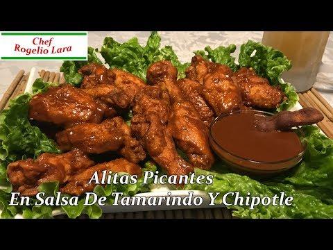 Alitas Picantes En Salsa De Tamarindo Y Chipotle