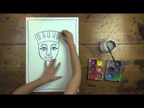 FREE! Egyptian Mummy Artwork step-by-step