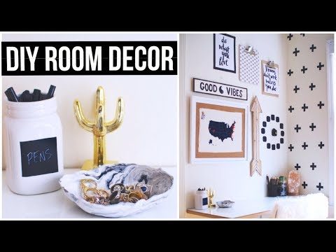 DIY Room Decor! (Black, White, & Gold) Picture frame Craft | DIY Christmas craft  2018
