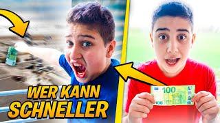 100 EURO CHALLENGE 💶 (Wer kann schneller)… ? | CRASHBROS2
