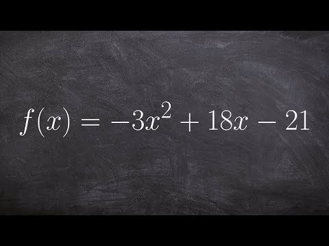 Completing the square to convert between quadratic and vertex form