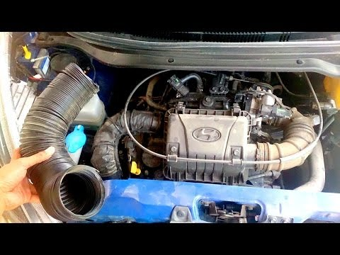 Easy POORMAN'S COLD AIR INTAKE for your car, performance increase Hyundai EON with K&N air filter!