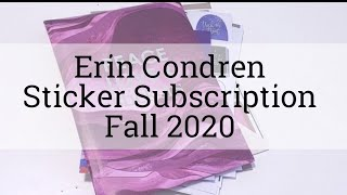 Flip Thru | Erin Condren Sticker Subscription Vol. 2, Ed. 2 | Fall 2020 #ecstickerclub