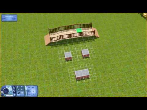 [Sims 3] How to build a Japanese Bridge/Gate - Comment édifier un pont japonais
