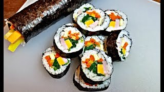 Download How to make Kimbap (Gimbap) | Lunch Box Ideas | Kimbap recipe Video