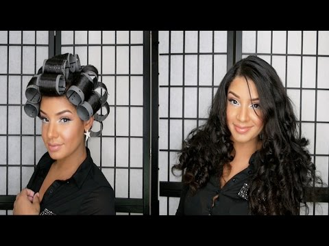 How To Roller Set Natural Curly Hair Tutorial