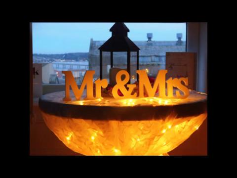 wedding anniversary  diy table decor(part 3)