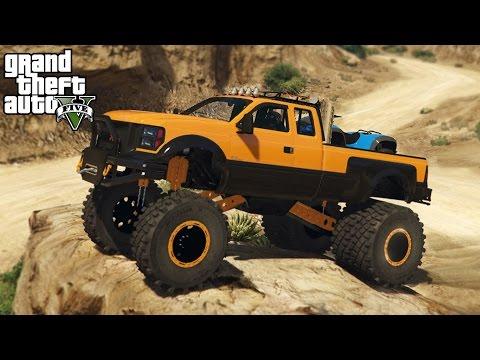 BEST TRUCK IN GTA 5! 4x4 Sandking HD Hauling Quad, Mudding, Off-Roading! (GTA 5 PC Mods)