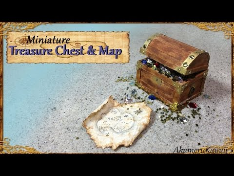 Miniature Treasure Chest & Treasure Map - Tutorial