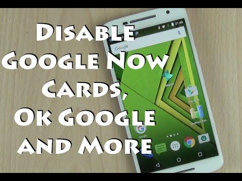 Disable Google Now From Left Swipe, Bottom Up Swipe, Ok Google