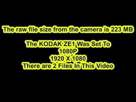 Test Video At 1080P KODAK ZE1