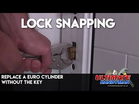 Replace a euro cylinder without the key | lock snapping