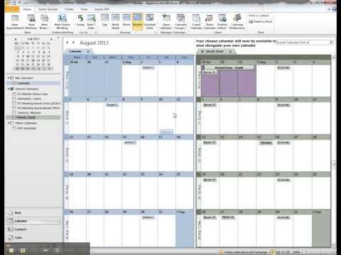 How to open a shared calendar