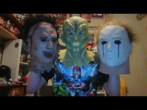Michael Myers, Leatherface Goosebumps Haunted Masks and Zoom mask