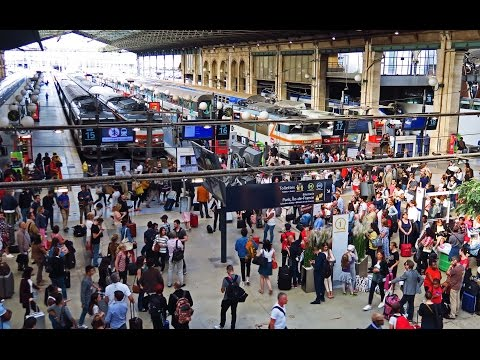 Paris Gare du Nord  - The Busiest Station in Europe !