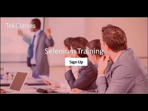 Selenium Tutorial | Selenium webdriver tutorial tekclasses