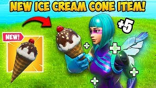 *NEW ITEM* ICE CREAM CONE!! - Fortnite Funny Fails and WTF Moments! #594