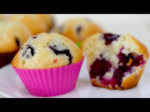 Quick And Easy Blueberry Muffins/Basic Blueberry Muffins Recipe--Cooking A Dream