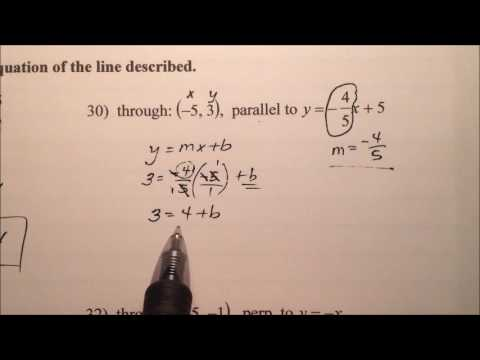 Writing Linear Equations of Parallel and Perpendicular Lines (Examples)