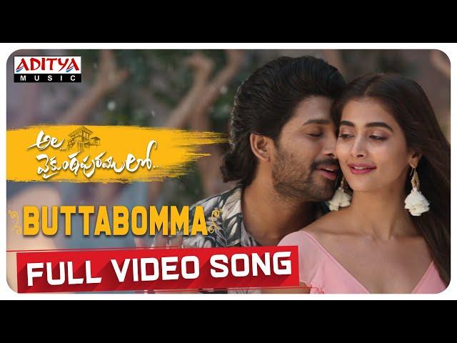 #AlaVaikunthapurramuloo - ButtaBomma Full Video Song (4K) | Allu Arjun | Thaman S | Armaan Malik