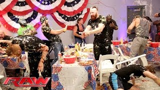 A food fight erupts during WWE