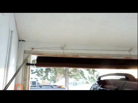 Carport roll up door.