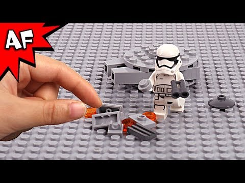 Lego Star Wars Brick Building the Millennium Falcon with Stormtrooper