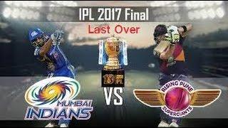 IPL 2017 Final Last Over
