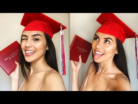 GRADUATING FROM HIGH SCHOOL | GRWM & VLOG!