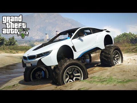 WHAT HAPPENS WHEN YOU LIFT A BMW i8 - GTA 5 PC Mods