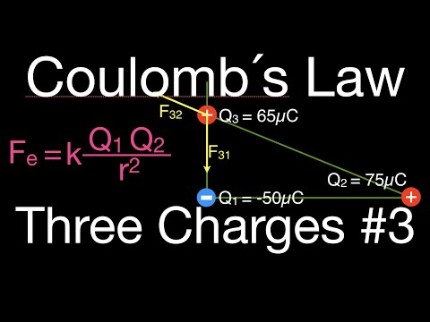 Coulomb's Law, Force on Charges Arranged in a Right Triangle