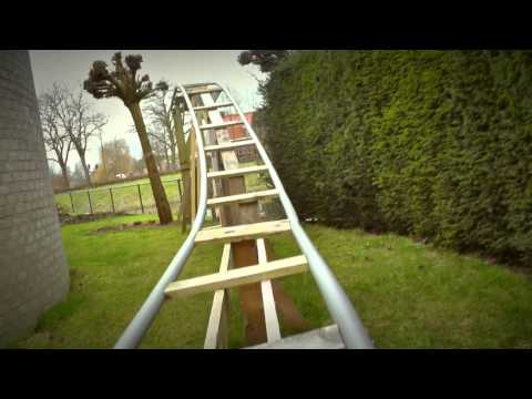 Backyard PVC Rollercoaster 2015 (DIY Project)