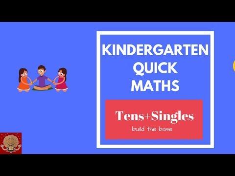 Kindergarten fast maths-tens with single digit numbers  Fun Maths tricks for kids  Mind Maths