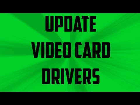 Update your Video/Graphics Card Drivers Windows 7, Windows 10, XP and Vista ( Works for MINECRAFT )