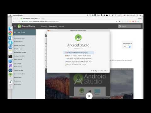 How to install Android SDK on MAC