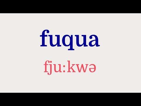 How to Pronounce Fuqua