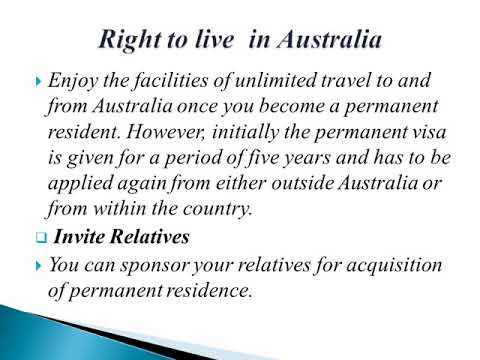 Benefits of Australian Permanent Residency Visa