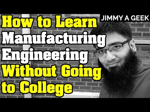 How to Learn Industrial/Manufacturing Engineering Without Going to College ?