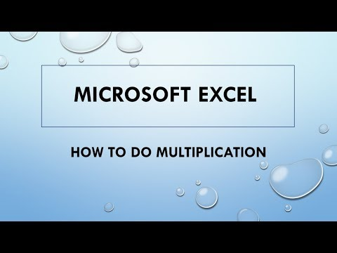 How to multiply in Excel || Multiplication in Excel