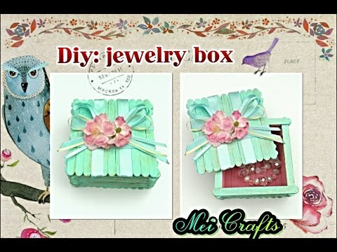Diy : jewelry box ( vintage style)