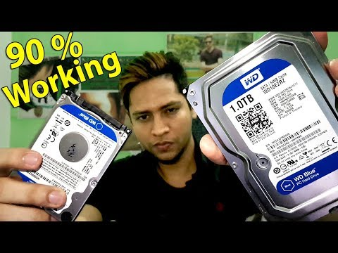 How to fix corrupted not responding| dead hard disk 100% working 2017