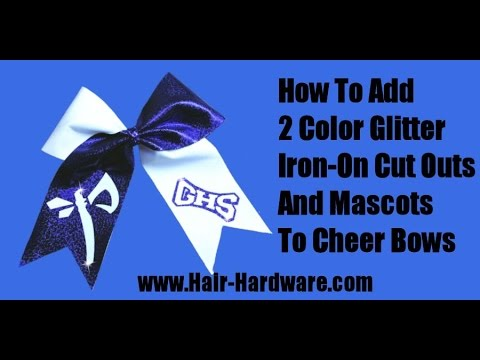 Make Cheer Bows With Two Color Glitter School Letters And Mascots