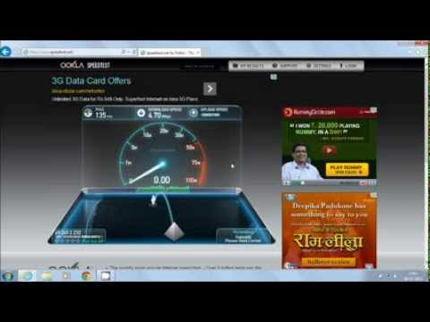 tata docomo 3g speed test from huawei data card