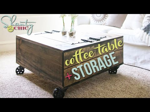 DIY Coffee Table with Storage | Shanty2Chic