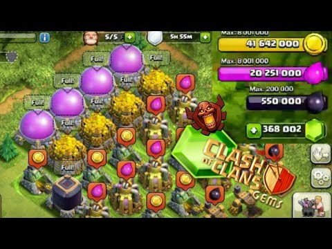 CLASH OF CLANS - MOST GEMS! MOST RESOURCES! MOST EVERYTHING!