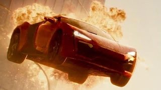 Fast & Furious 7 car jump from Dubai Burj Khalifa Towers